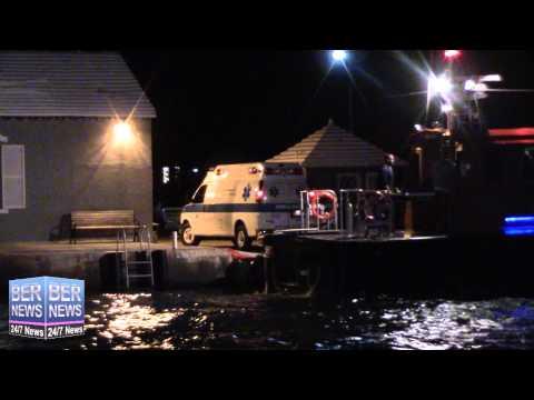Injured Ship Captain Transferred To Ambulance, February 2 2015