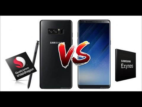 Thumbnail: Galaxy Note 8 Snapdragon 835 vs Exynos 8895 Benchmarks