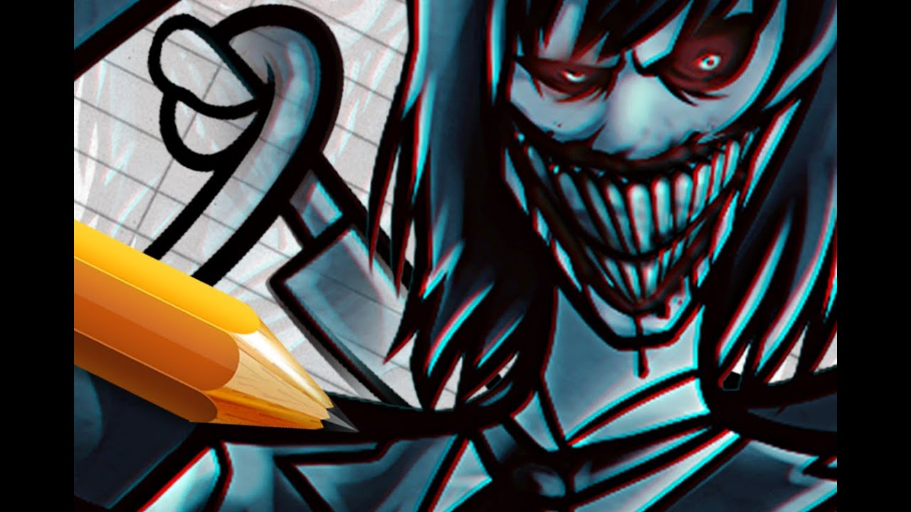 How To Draw And Color A Jeff The Killer Amp Slender Man
