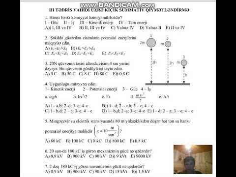 Fizika 7 -ci sinif ksq 2 testi cavablarıyla.
