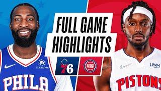76ERS at PISTONS   NBA PRESEASON FULL GAME HIGHLIGHTS   October 15, 2021