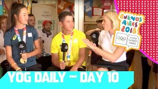 Table Tennis Q&A & all the highlights from Day 10  | YOG Daily Show | Day 10 | YOG Buenos Aires 2018