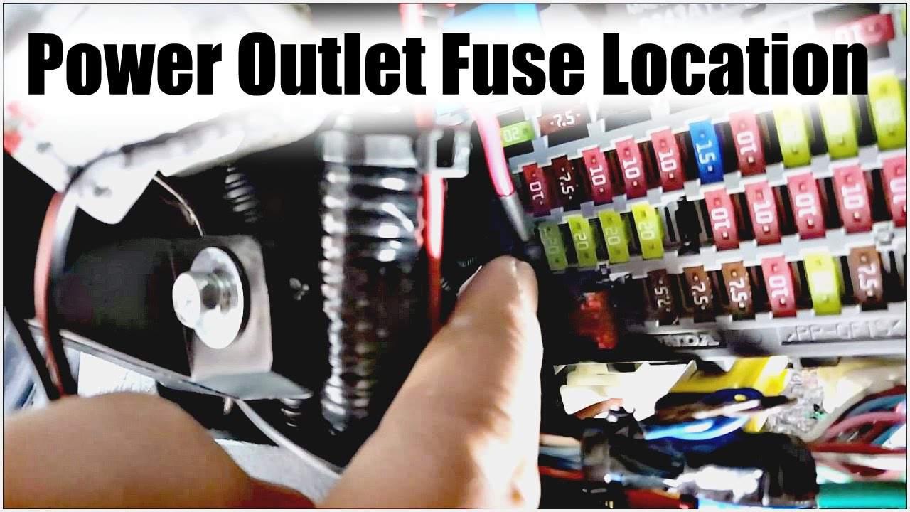9thgen Honda Accord Power Outlet Fuse Location Youtube 1999 Control Panel