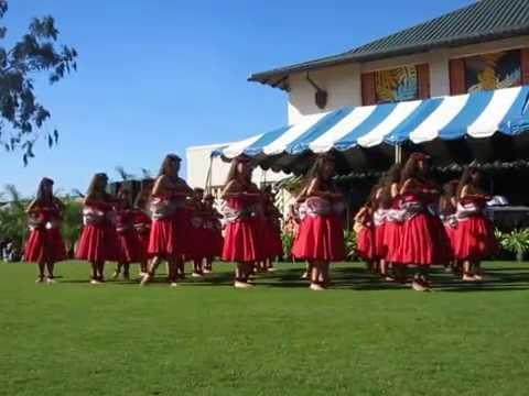 Kamehameha Schools Hawaiian Ensemble at Ho`olaule`a 2014