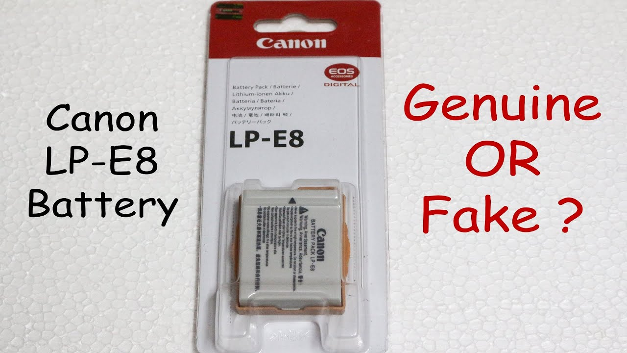 canon lp e8 battery how to spot the fake youtube. Black Bedroom Furniture Sets. Home Design Ideas