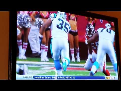 Carolina Panthers Mike Tolbert smashes ATL D!