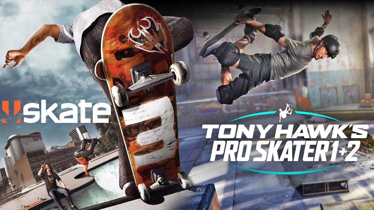 SKATE 3 e TONY HAWK'S PRO SKATER 1+2 - A Diferença Entre os Games!