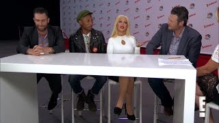 Christina Aguilera & Coaches - E! News Interview (20/Apr/15)