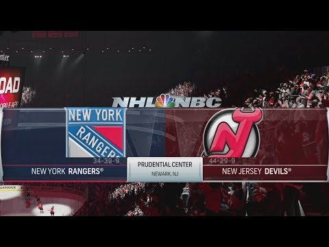 NHL 19 Gameplay - New York Rangers vs New Jersey Devils [4K]