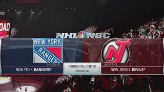 NHL 19 Gameplay - New York Rangers vs New Jersey Devils [4K]