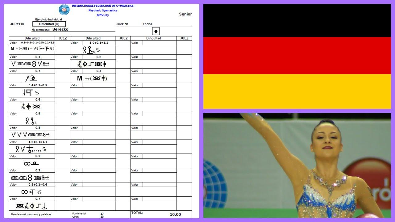 Jana Berezko Marggrander Ball 2016 Difficulty Symbols Youtube