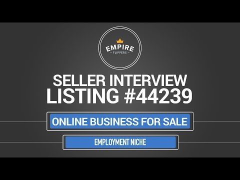 Online Business For Sale – $8.1K/month in the Employment Niche