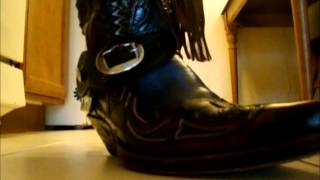 Sendra Blue Hurricane Cowboy Boots (With Spurs & Chaps)