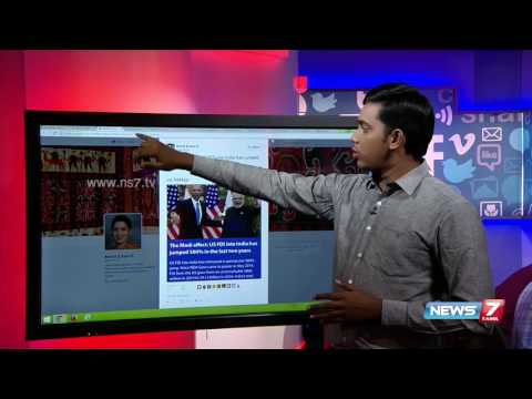 US FDI into India trends in Social Media | News7 Tamil