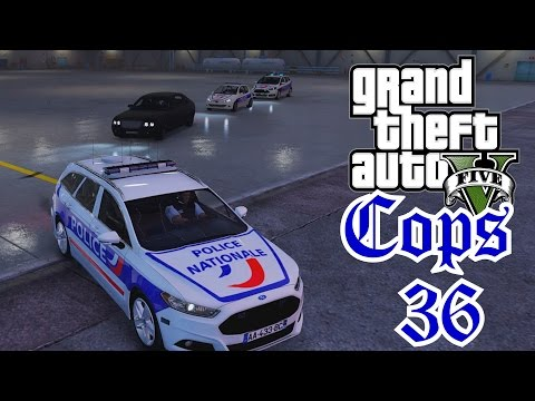 Escorte VIP Police Nationale - COPS 36 - LSPDFR GTA 5 MODS