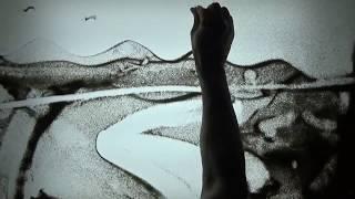 동화 '강아지똥 샌드아트'(sand an…