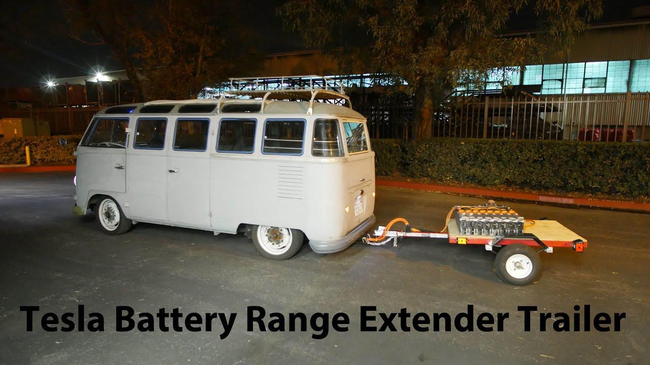 electric vehicle range extending tesla battery trailer project pt3