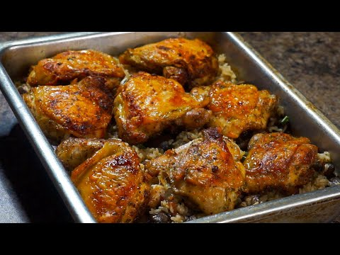 The Best Oven Baked Chicken and Rice EVER!!! | Baked Chicken Recipe