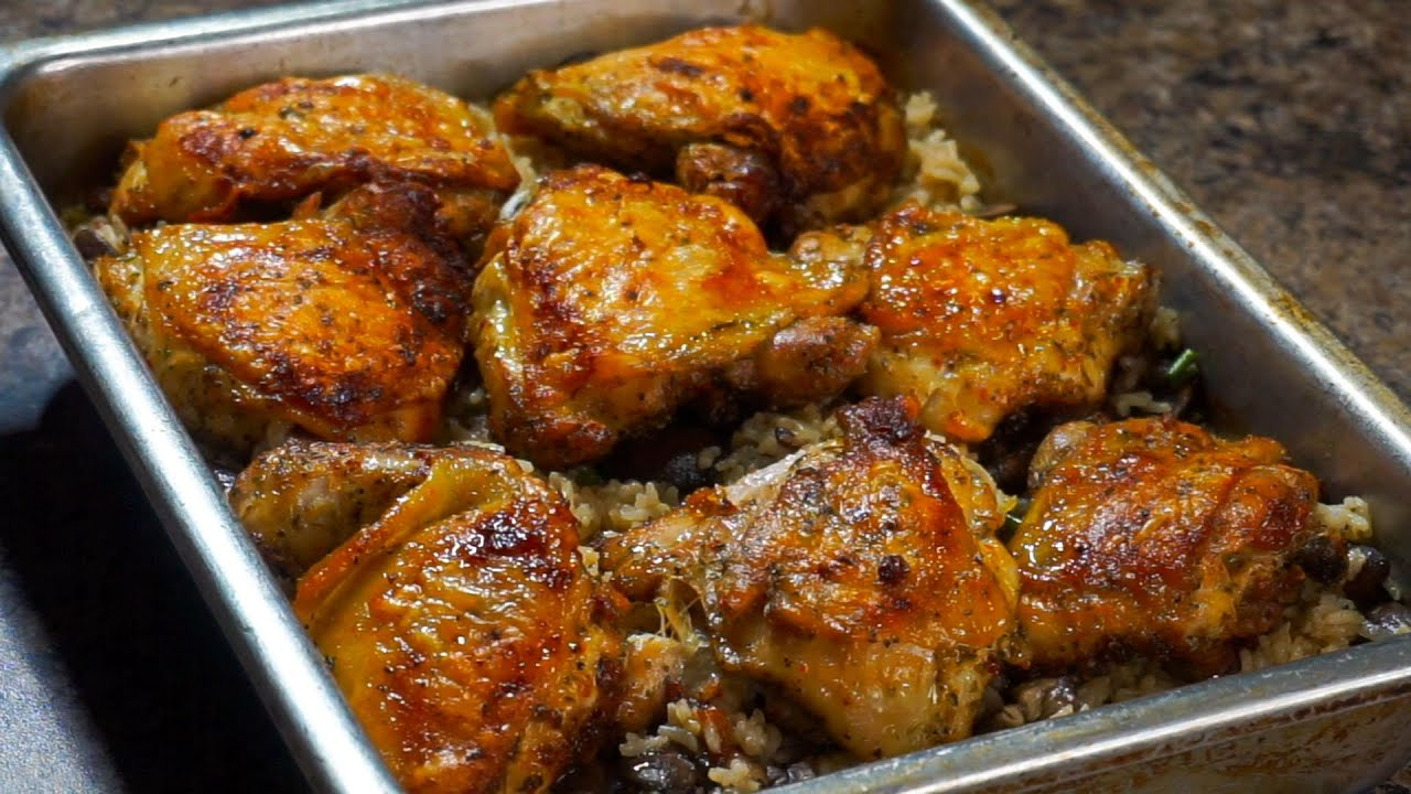 Download The Best Oven Baked Chicken and Rice EVER!!!   Baked Chicken Recipe
