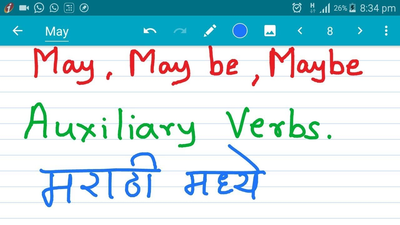 With pdf meaning verbs marathi english