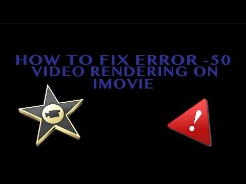 iMovie error -50