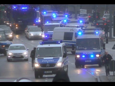 Hamburg Nach NPD Demo Einsatz extrem Polizei am Limit alle Einsatzfahrten der Polizei