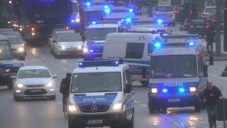 Einsatz extrem Polizei Hamburg nach NPD Kundgebung droht Eskalation  alle Einsatzfahrten der Polizei