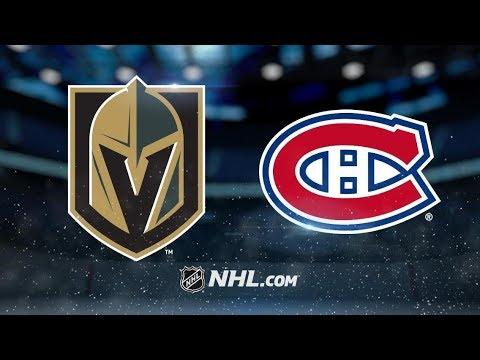 Vegas Golden Knights vs Montreal Canadiens – Nov. 10 b9cac87c7
