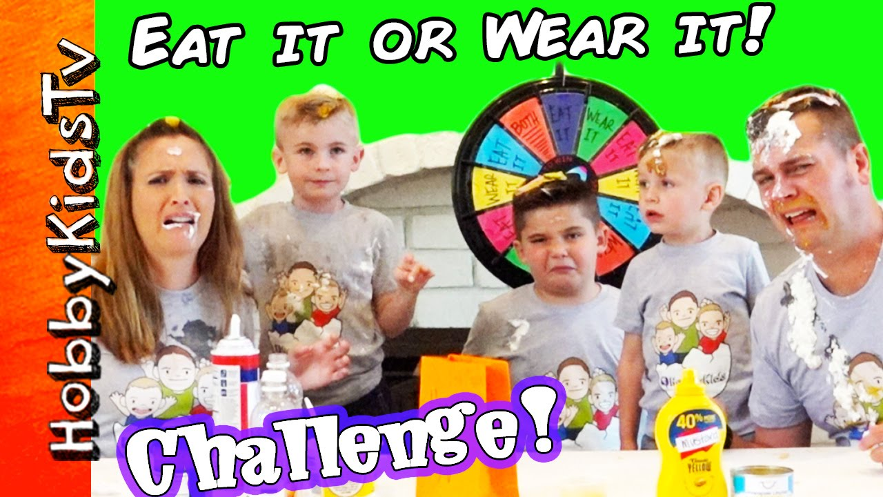 Eat It Or Wear It Challenge New Shirts Messy Family Fun