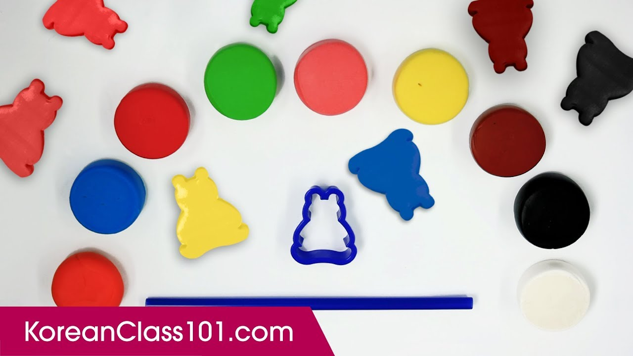 How To Make Colors Foam Clay Bears Toy DIY Learn Korean Color