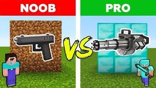 Minecraft - NOOB vs PRO : SECRET GUN in Real Life   AVM SHORTS Animation