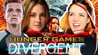THE HUNGER GAMES VS DIVERGENTE | Andrea Compton