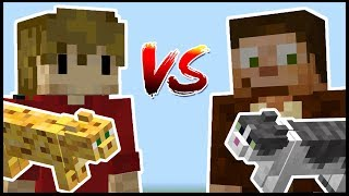 MAUI VS JELLIE: The Minecraft Cat Build Off!