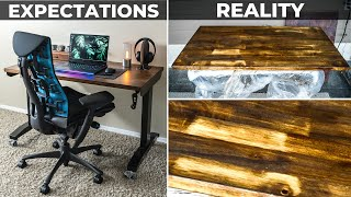 DIY Desk Staining...How I RUINED My Desk + Mistakes to AVOID!😭