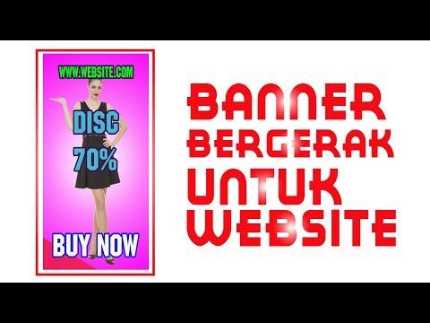 Tutorial Cara Membuat Desain Gambar Banner Animasi Gif Bergerak Di Iklan Website Dengan Photoshop