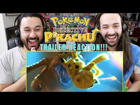 POKÉMON DETECTIVE PIKACHU - Official TRAILER #1 REACTION!!!