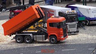 RC trucks and construction machines - Bahnhofsfest Baiersbronn 2016 - part 1