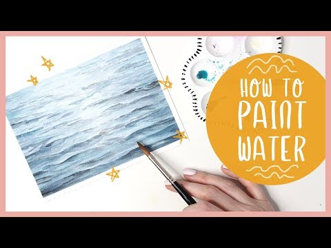How To Paint Ocean Water With Watercolor Tutorial