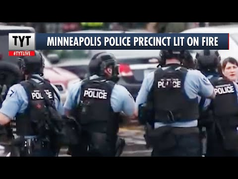 Minneapolis Burns As Police Precinct Is Taken Over And Lit On Fire