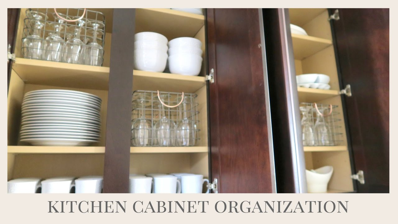 HOME ORGANIZATION TIPS | Kitchen Cabinet Organization - YouTube