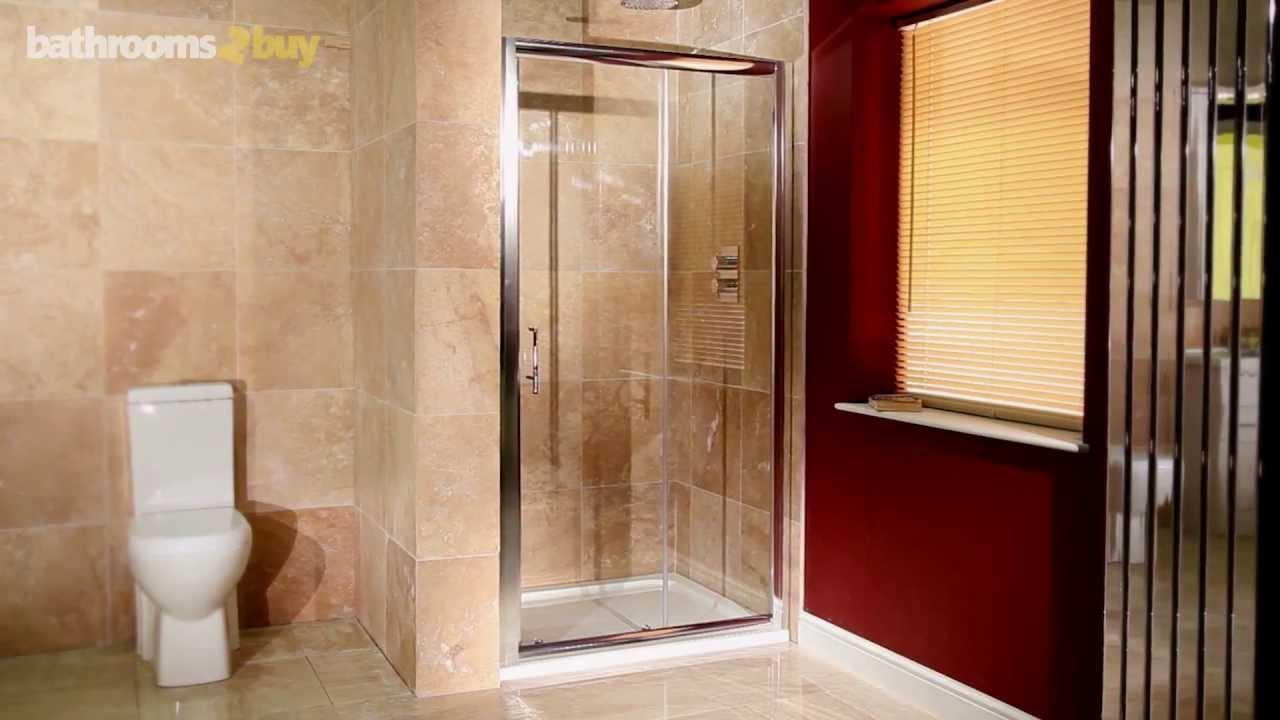 1000 Sliding Shower Door Youtube