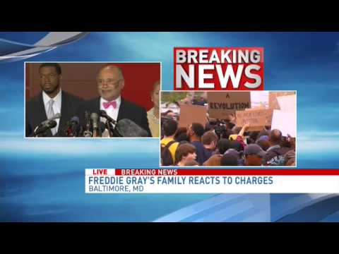 Freddie Gray's family reacts to charges