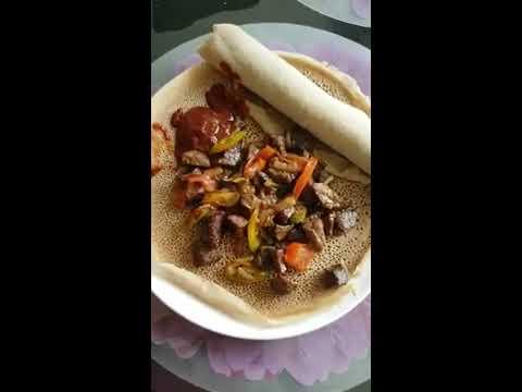 Ethiopian food kelal yemitaft derk tbis