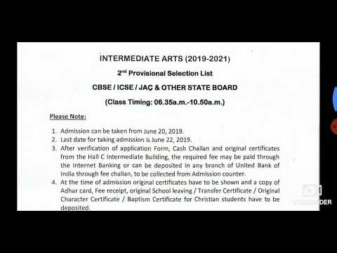 2nd Provisional List St Xavier College Arts /intermediate Arts 2nd Selected Student List// Xavier