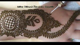 زواقة رومية جميلة وطريقة فنية ومذهلة لتعلم النقش A beautiful henna drawing and an easy way to learn