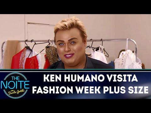 Ken Humano visita Fashion Week Plus Size |  The Noite (17/04/18)