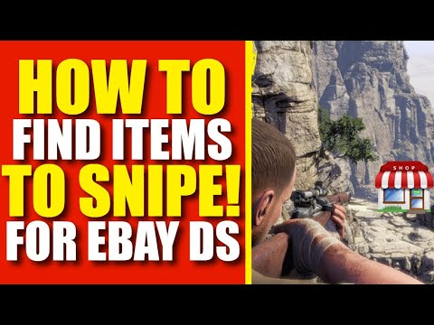 How To Find Items To Snipe (Ebay Dropshipping Training)