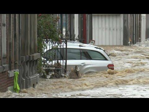 Belgian city Purgatoire flooded after heavy rains | AFP