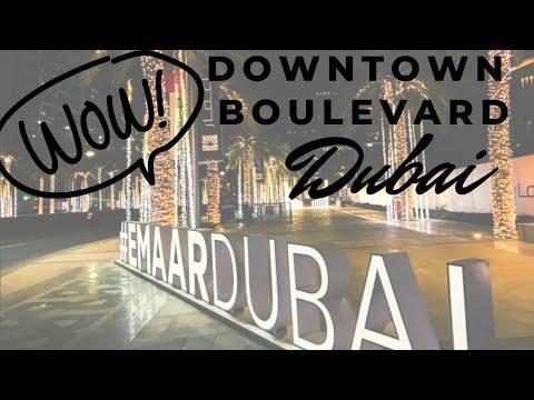 Downtown boulevard Dubai 2021 #drivedubai #dubaivlog