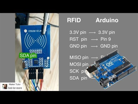 Arduino UNO Using A RFID RC522 - Arduino Tutorial